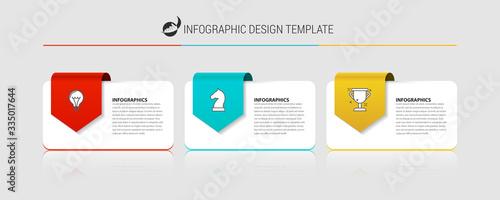Fényképezés Infographic design template. Creative concept with 3 steps