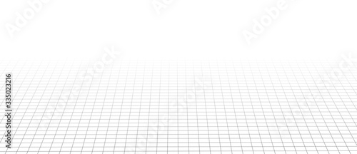 Foto Abstract perspective black grid