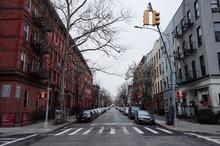 Coronavirus Covid 19 New York City Brooklyn Williamsburg Buildings Empty Street View