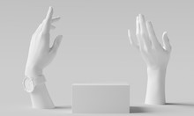 Elegant Female Hand Gesture Wh...