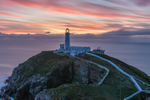 South Stack Lighthouse At Sunset