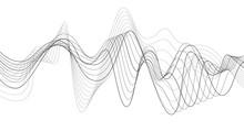 ENERGY FLOW DESIGN. MODERN WAVE LINE. FREQUENCY DIGITAL ILLUSTRATION.