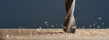 Wood Drill Bit In The Blur Wit...
