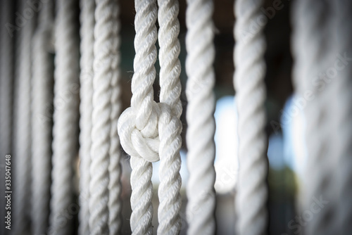 Fototapeta corda con nodo marinaro