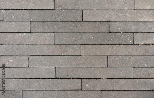 Stampa su Tela Background texture narrow paving stones