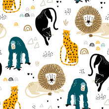 Seamless Jungle Pattern With A...