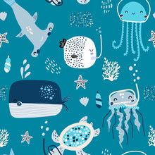 Seamless Childish Pattern With...