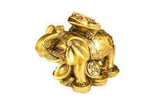 Statuette Buddha Gold Elephant...