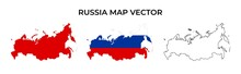 Russia Map Vector Set - Blank ...