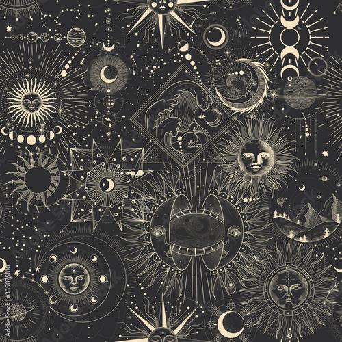 Tapety Industrialne  wektor-ilustracja-zestaw-faz-ksiezyca-rozne-etapy-aktywnosci-ksiezyca-w-stylu-vintage-grawerowania-znaki-zodiaku