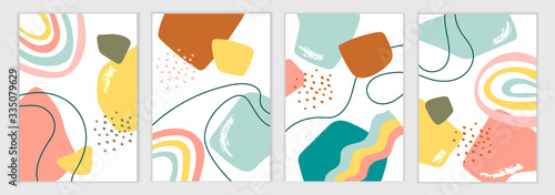 Photo Set of abstract templates for banners, posters, flyers, covers