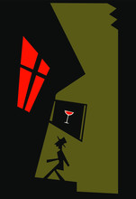 Night Walk, Night Club, Mysterious Man, Thief, Dangerous House And Man With Hat, Detective And House With Red Window