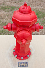 Red Fire Hydrant Manufactured In 1947