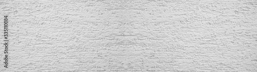 Carta da parati White rough plaster facade texture background banner panorama