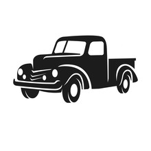 Old Retro Pickup Truck Vector ...