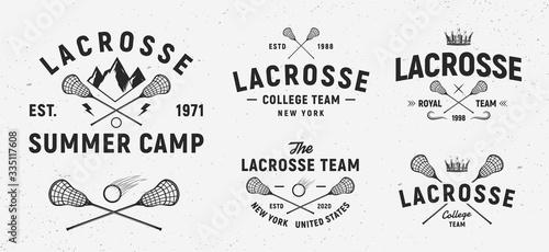 Fotografía Vector Lacrosse logo set
