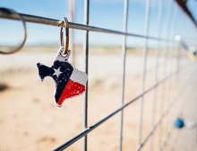 Texas Flag Keychain In Marfa Texas