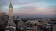 Historic Center Mexico City drone cinematic view