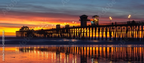 Canvas Print Oceanside Pier