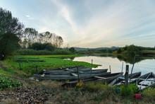 Natural Landscape With Boats I...