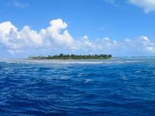 Beautiful Sea With An Island I...