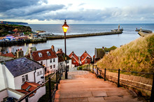 Whitby Harbour And Pier On The...
