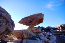 Massive Balanced Boulder In Canyon Country In The Bears Ears Wilderness Of Southern Utah.