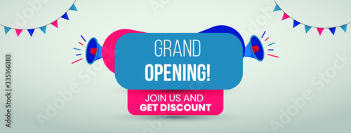 Foto Grand opening cover banner template for facebook and twitter