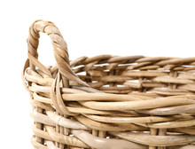 Wicker Basket On White Backgro...