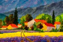 Oil Painting Italian Summer Co...