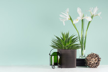 Fresh Spring Interior With Gre...