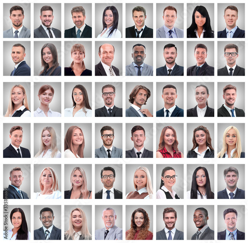Fototapeta portraits of successful young businessmen isolated on white