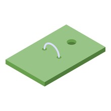 Croquet Field Icon. Isometric ...