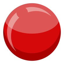Croquet Red Ball Icon. Isometr...