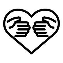 Affection Icon. Outline Affect...