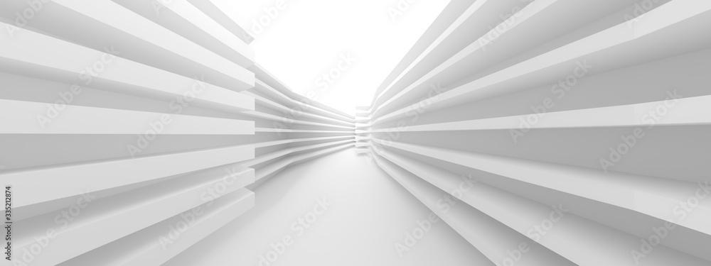 Fototapeta Abstract Hall Background. Minimal Architecture Design