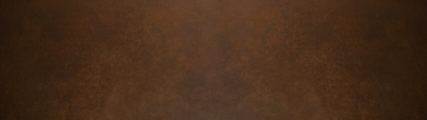 Old brown colored vintage abstract painted background texture banner panorama, with space for text