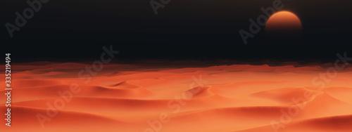 фотография Sandwüste mit Dünen in der Dunkelheit