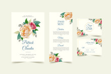 Wedding Card Template With Bea...