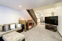 Living Room Interior With Beig...