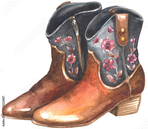 Valokuvatapetti Woman cowboy boots