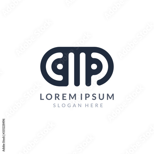 Photo CMP letter company logo or AMP letter