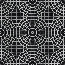 Seamless Geometric Black And W...
