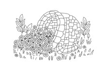 Garden Flowerbed With Periwink...