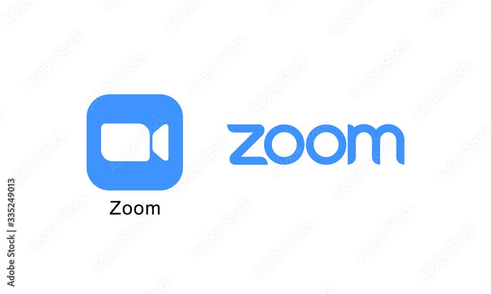 Fototapeta Social media logotype Zoom icon ZOOMマーク ロゴ アイコン