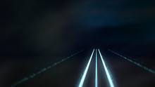 Hintergrund Mit Leuchtenden Elementen, Passend Für Technische Inhalte Zum Thema Datenverkehr, Vernetzung, Internet, Mobilität, 3d Rendering, Procedural Background