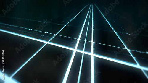 Photo Hintergrund mit leuchtenden Elementen, passend für technische Inhalte zum Thema