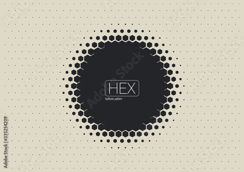 Stampa su Tela 2D Abstract Geometric Wave Hex Halftone Pattern