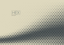 2D Abstract Geometric Wave Hex...