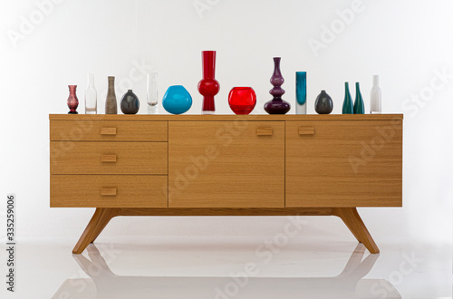Fotografie, Tablou wooden display sideboard
